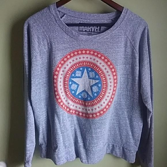 marvel captain america christmas sweater
